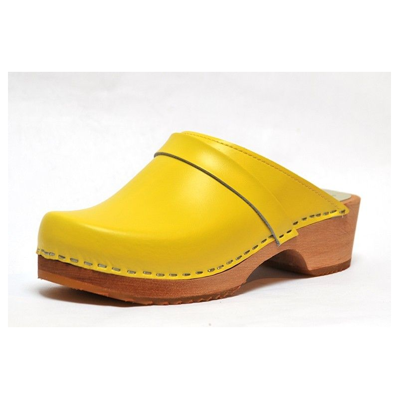 Leather Swedish Clogs With Wooden Sole For Woman Esprit