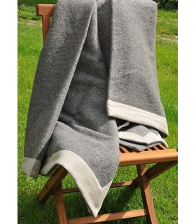 Throws grey anthracite in pure Virgin wool 140 x 240 cm