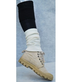 Gaiters 80% off-white worsted