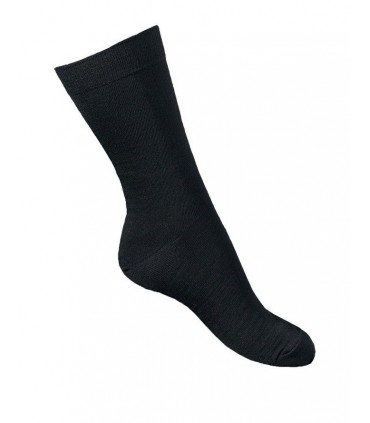 Men fine black Merino Wool socks