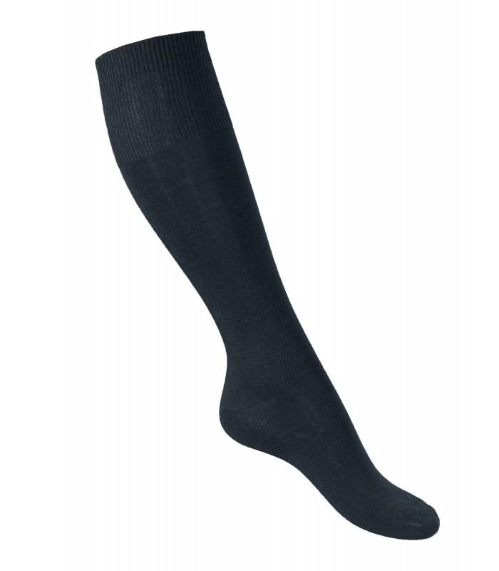 Chaussettes montantes noires 75% laine mérinos