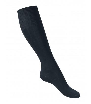 Delgado alto hombre no comprimir negro calcetines de Lana Merino