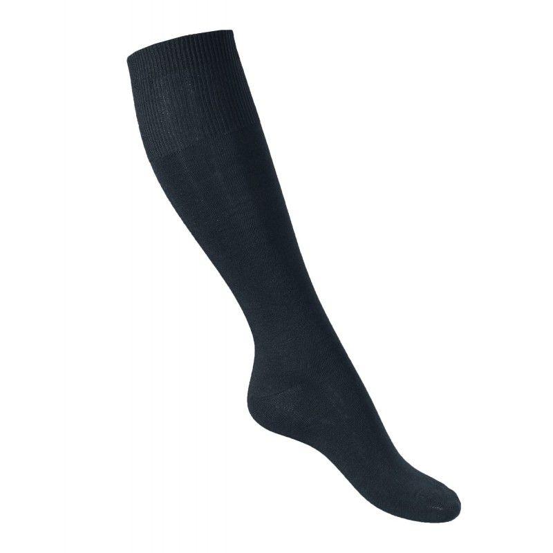 Muy buen hombre negro alto no comprimir 75% Merino calcetines de lana