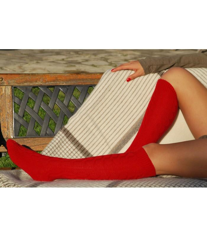 les torsadées en laine genou