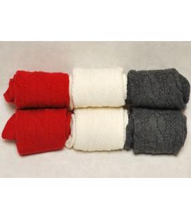 les 3 torsadées en laine genou