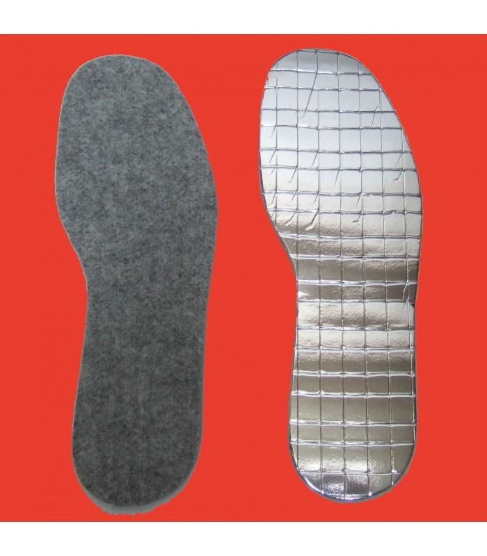Semelles intérieures de chaussures en peau d'agneau