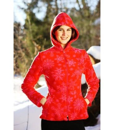 Jacke Fleece Women rot oder schwarz