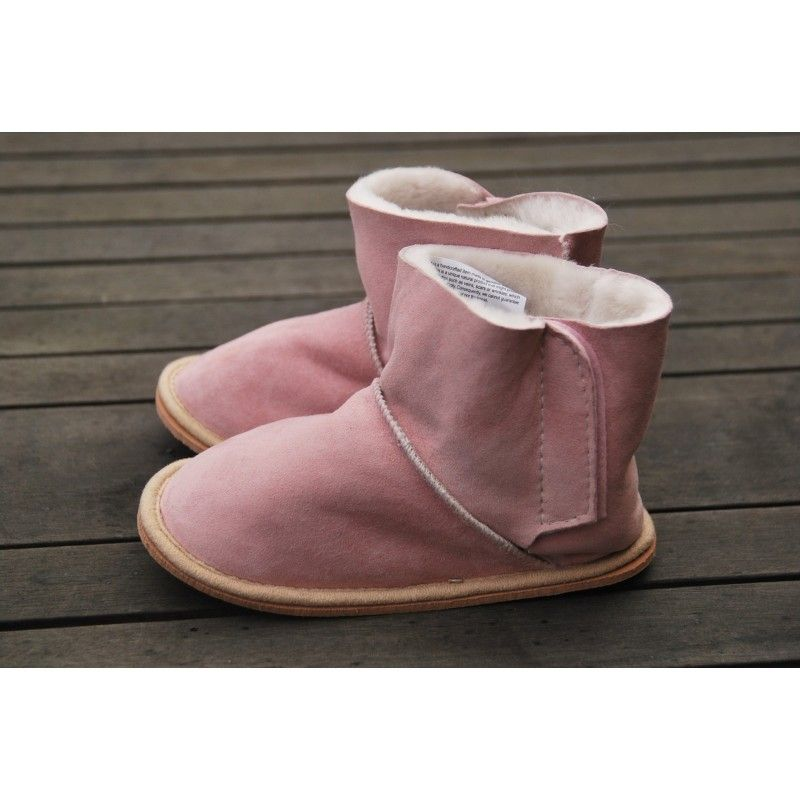 chaussons bottes peau d 39 agneau v ritable enfant b b thermotherapie. Black Bedroom Furniture Sets. Home Design Ideas