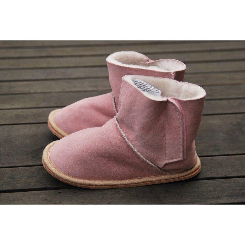 29e27579f6fa4 Chaussons bottes peau de mouton véritable enfant bébé -thermotherapie