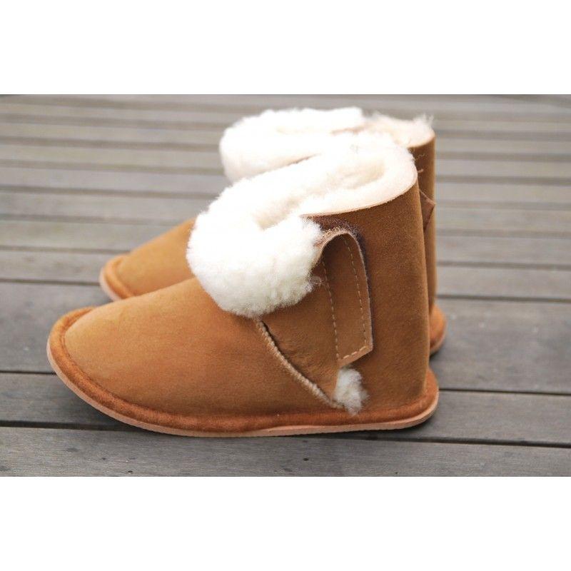 chaussons boots peau d 39 agneau v ritable enfant b b thermotherapie. Black Bedroom Furniture Sets. Home Design Ideas