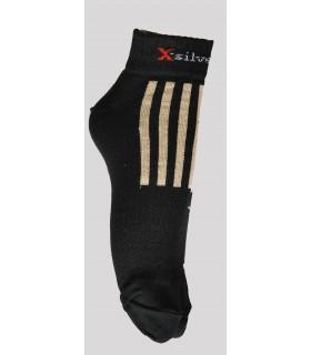 Socquettes sport running laine mérinos ions d'argent