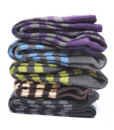 Chaussettes coton rayées homme