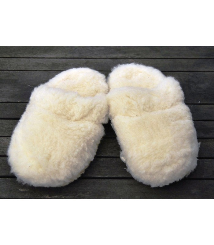 Warm mules slippers in pure wool