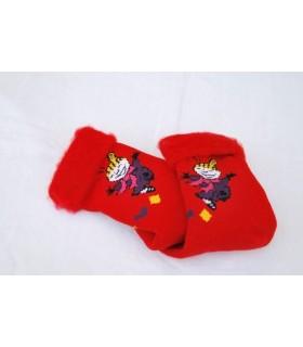 Calcetines rojo de lujo de la historieta niños