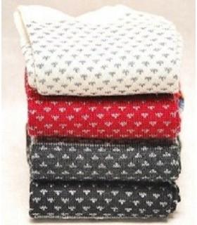 Chaussettes laine merinos fines jacquard homme