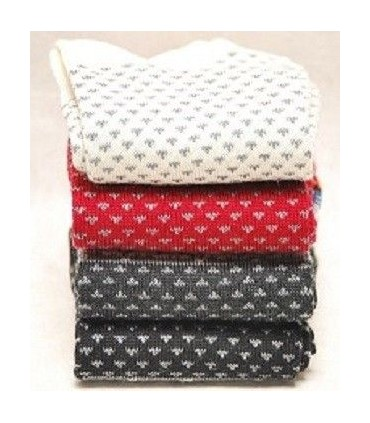 Chaussettes homme laine merinos fines motif jacquard nordique