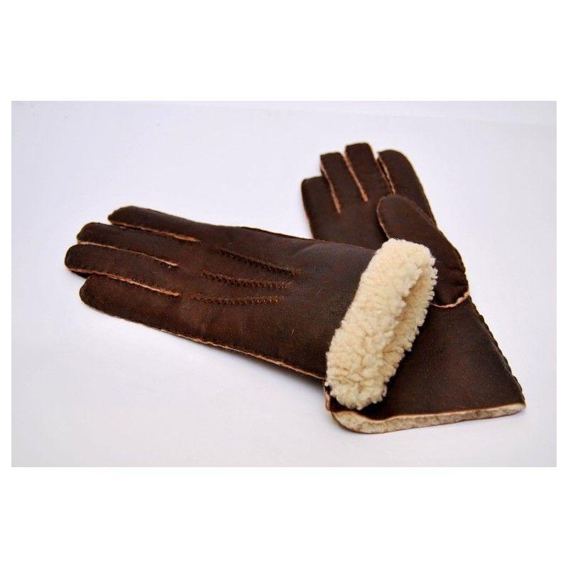 Lambskin leather Aviator Gloves