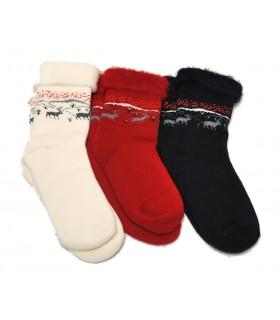 Chaussettes laine grattée cocoon thermotherapie
