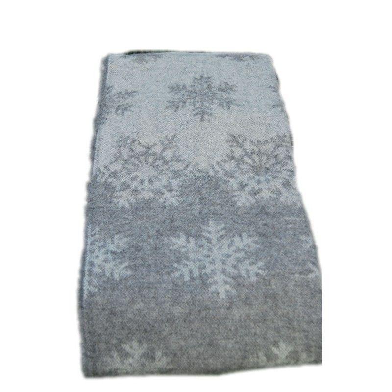 plaid gris snow en pure laine scandinave. Black Bedroom Furniture Sets. Home Design Ideas