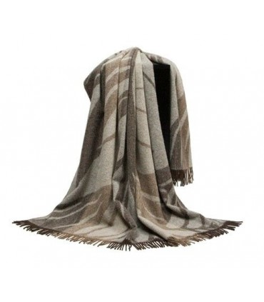 Grand Plaid mixte laine Alpaga et pure laine vierge
