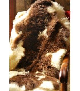Peau de mouton lainée de décoration