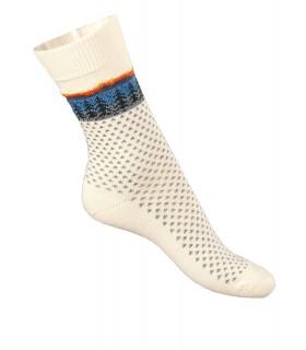 Damen Socken dünn Jacquard Merinowolle
