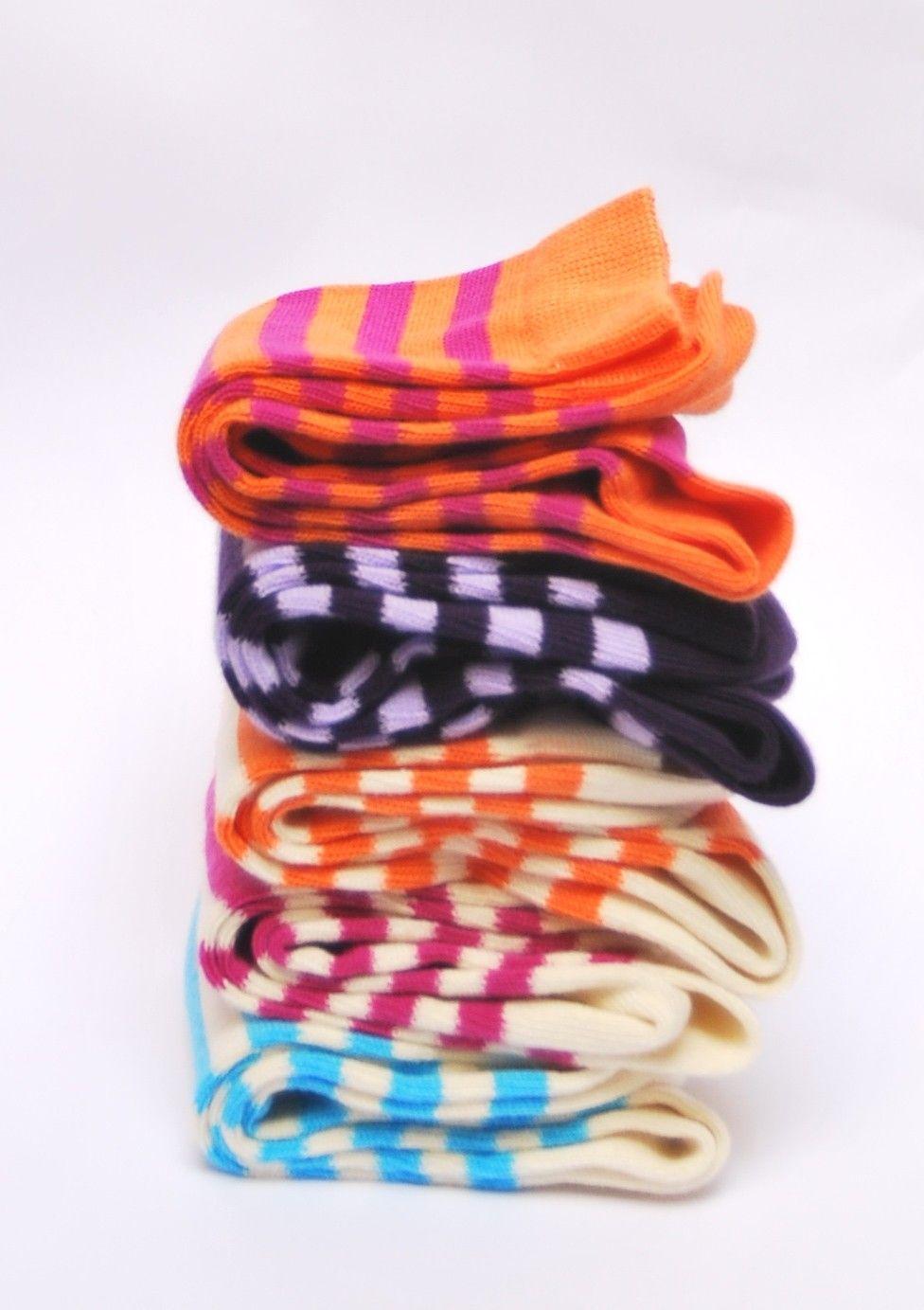 f899b9bd580 Chaussettes femme YLIN coton d Egypte rayé et coloré
