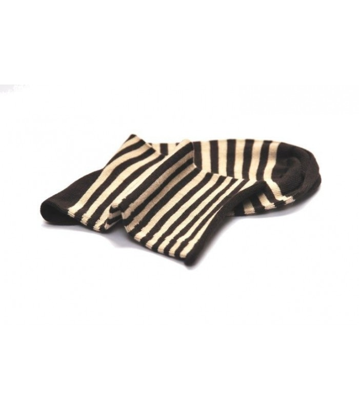 Women untightened bamboo stripe socks