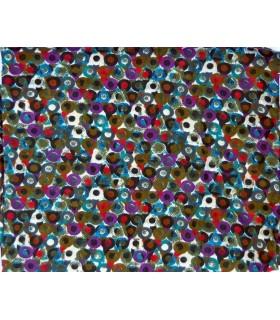 Algodón grande bufanda con diseño colorido puntos