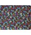 Large cotton with colourful design dots scarf