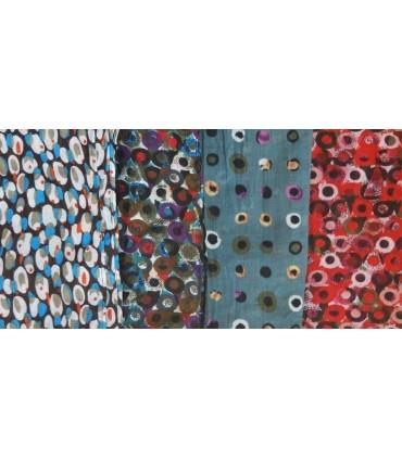 Grand foulard en coton à pois design colorés