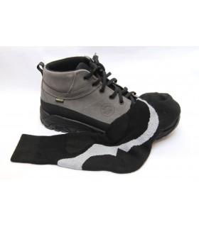 Chaussettes sport coolmax & bambou noir et gris