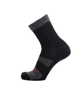 Calcetines senderismo outlast y lana gris y negro lazo