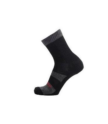 Socks hiking fiber outlast and wool grey and black loop