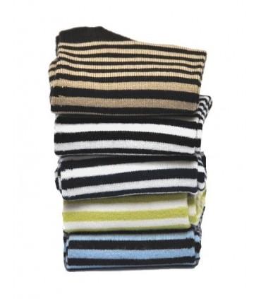 Chaussettes rayées non comprimantes bambou femme
