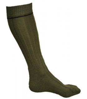 Chaussettes homme hautes 75% laine hiver kaki