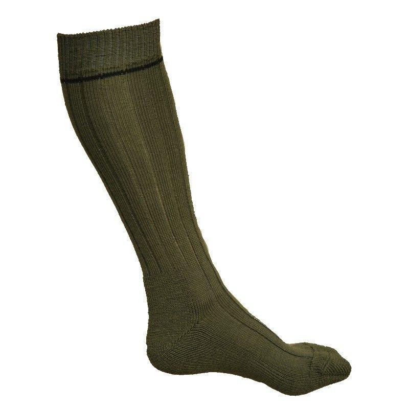chaussettes homme hautes kaki 75 laine renforts bouclettes. Black Bedroom Furniture Sets. Home Design Ideas