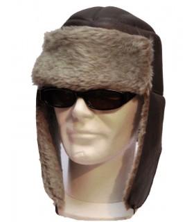 Chapkas nordique en cuir de mouton véritable