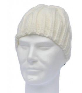 Bonnet laine torsade homme écru