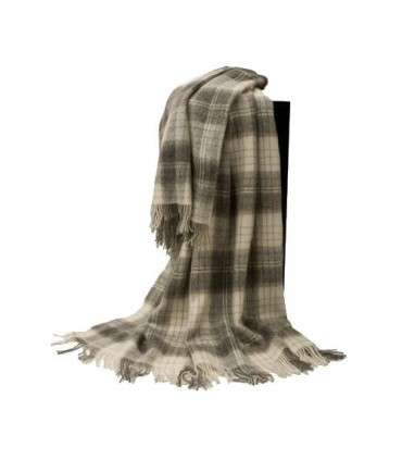 Plaid en pure laine vierge scandinave carreaux