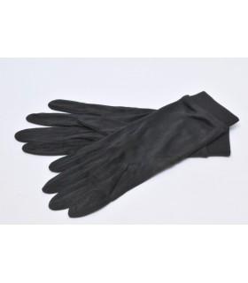 sous gant soie naturelle uni noir