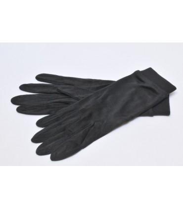 Sous gants soie naturelle unis noirs