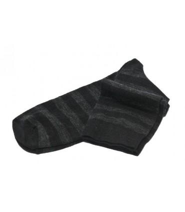 Calcetines mujer Lana Merino rayas negro y gris