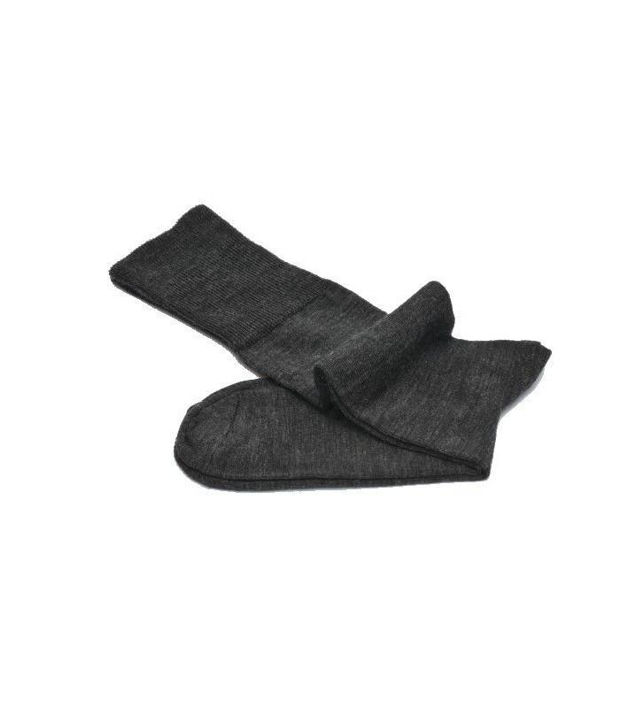 Chaussettes laine mérinos hautes femme non comprimantes fines