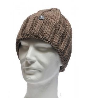 Bonnet laine torsade à revers homme ou femme