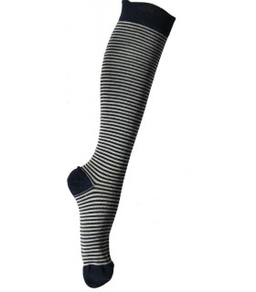 Very fine wool knee high striped men's socks