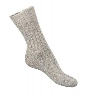 Chaussettes loisirs chaudes en laine gris chiné