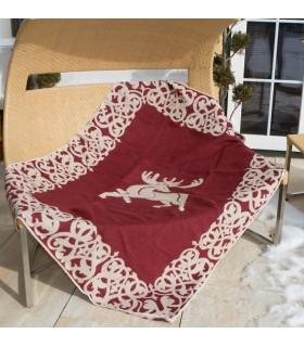 Plaid couverture coton et lin luxueux renne