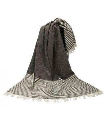 Plaid couverture grande taille pure laine vierge scandinave
