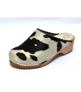 Hooves wood in genuine cowhide